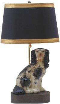 Staffordshire Dog Lamp Dog Lamp Staffordshire Dog Dog Decor