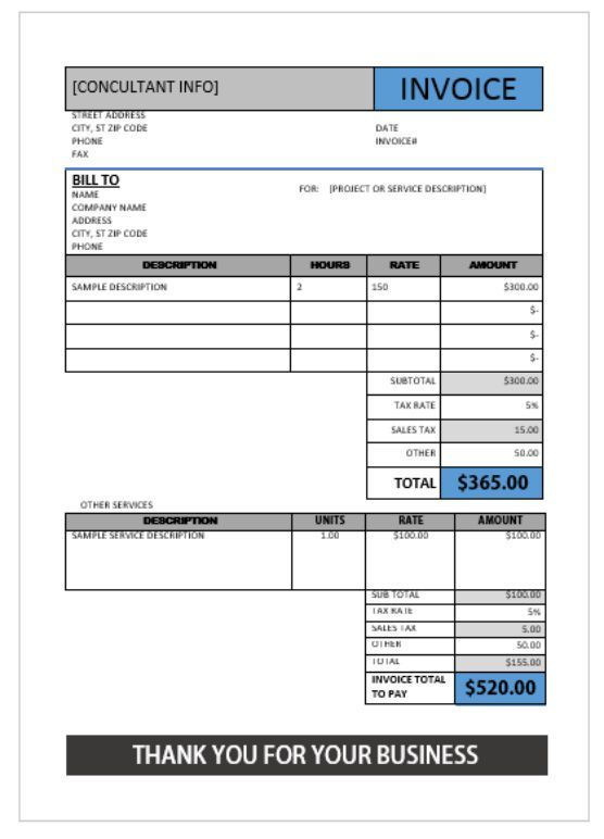 Invoice Template For Consultant Consulting Invoice Template - what is invoice po number