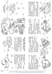 This is an image of Crafty The Mitten Printable Book