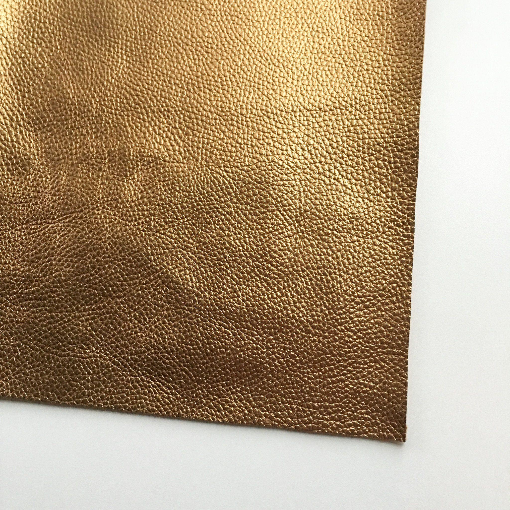 Metallic Foil Copper Textured Faux Leather
