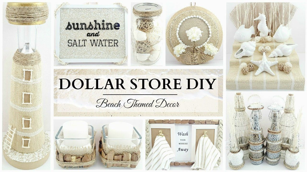 Dollar Store Diy S 10 Neutral Beach Themed Decor Crafts