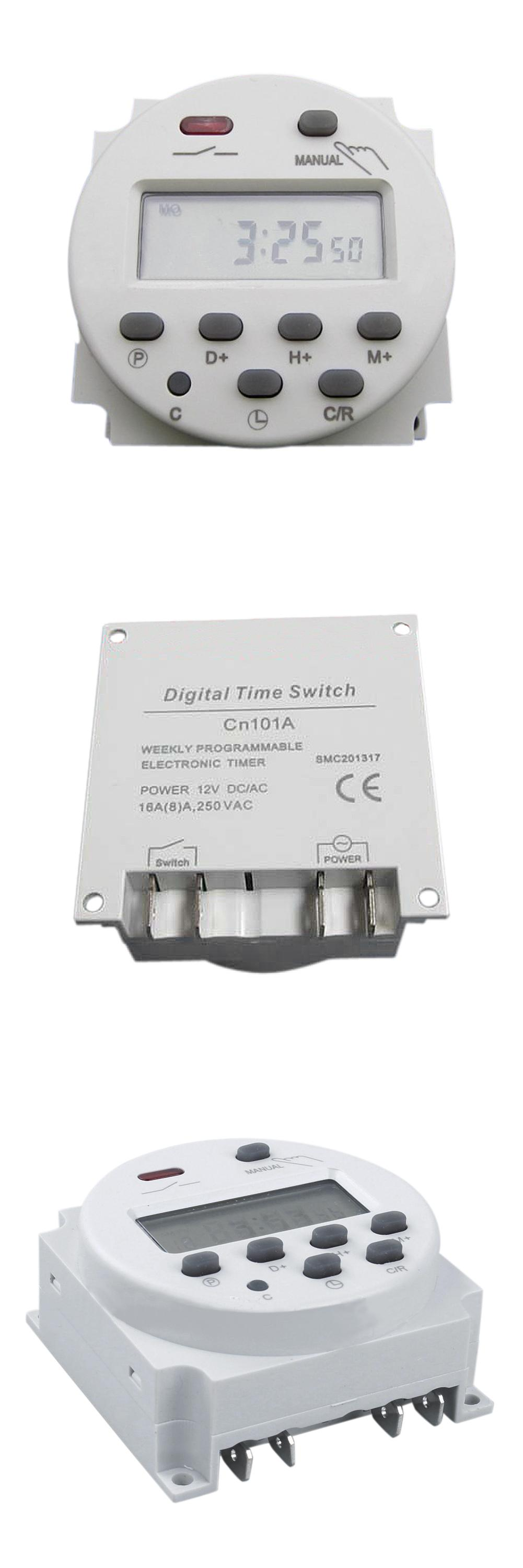 Visit To Buy Cn101a Dc 12v 16a Lcd Digital Power Programmable Timer Time Relay Switch For Electrical Equipments Hot Digital Timer Timer Electrical Equipment