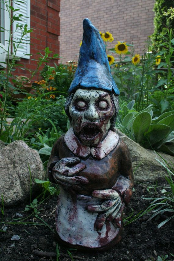 Bloody Mary Walking Dead Zombie Gnome By RevenantFX On Etsy. Gothic GardenWalking  ...