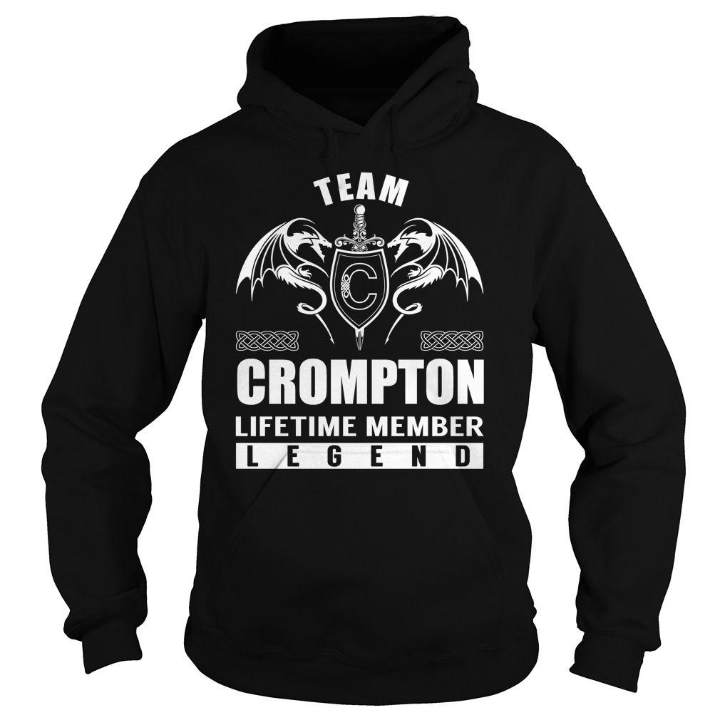 (Tshirt Awesome Design) Team CROMPTON Lifetime Member Legend Last Name Surname T-Shirt Teeshirt Online Hoodies Tees Shirts