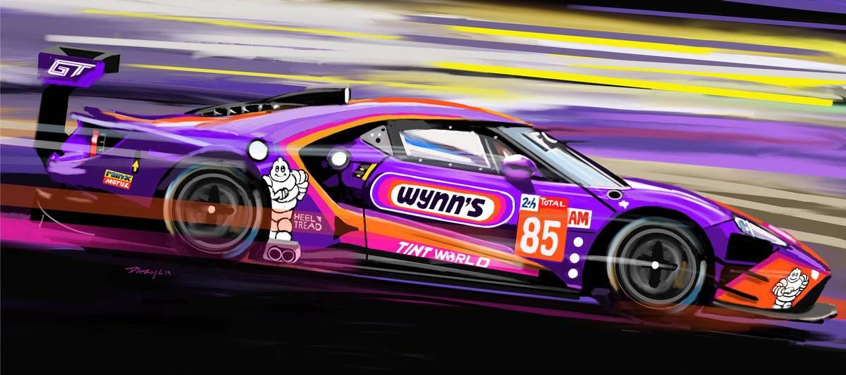 2019 Wynn S Racing Ford Gt Sideview Ford Gt Ford Gt Le Mans Ford