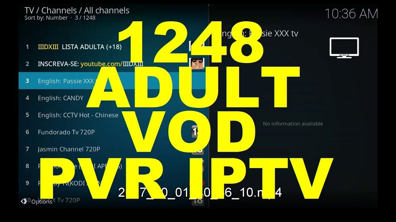 1248 Adult VOD M3U URL kodi 17 4, PVR IPTV Simple Client