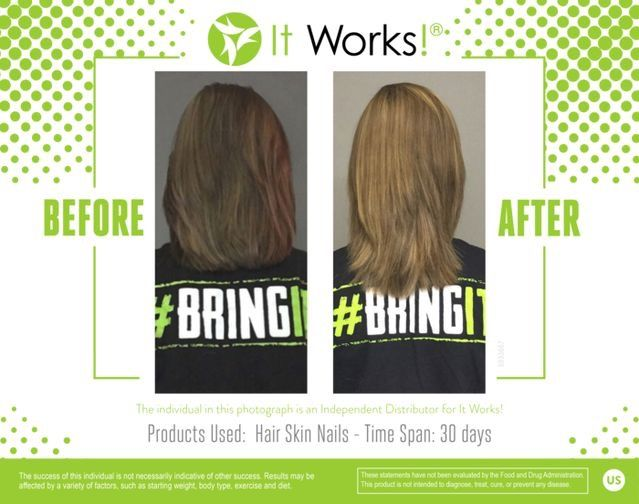 It Works Hair, Skin and Nails vitamins are the best around. Check ...