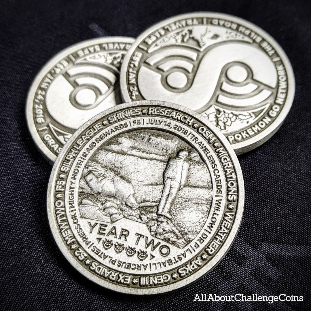 Silver Pokemon Go Coin