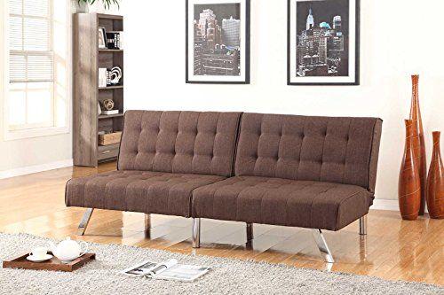 Chocolate Brown Linen With Split Back Adjule Klik Klak Sofa Futon Bed Sleeper Convertible Quality 275brown 19 77 Wide Https Swivelreclinercha