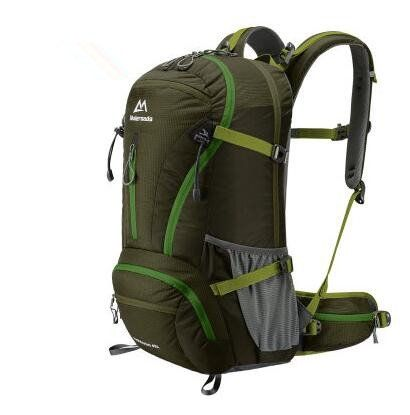 Waterproof Nylon Outdoor Breathable Mountaineering Bag Folding Backpack Wear Shoulder Bag Diamond Lattice Camping & Hiking