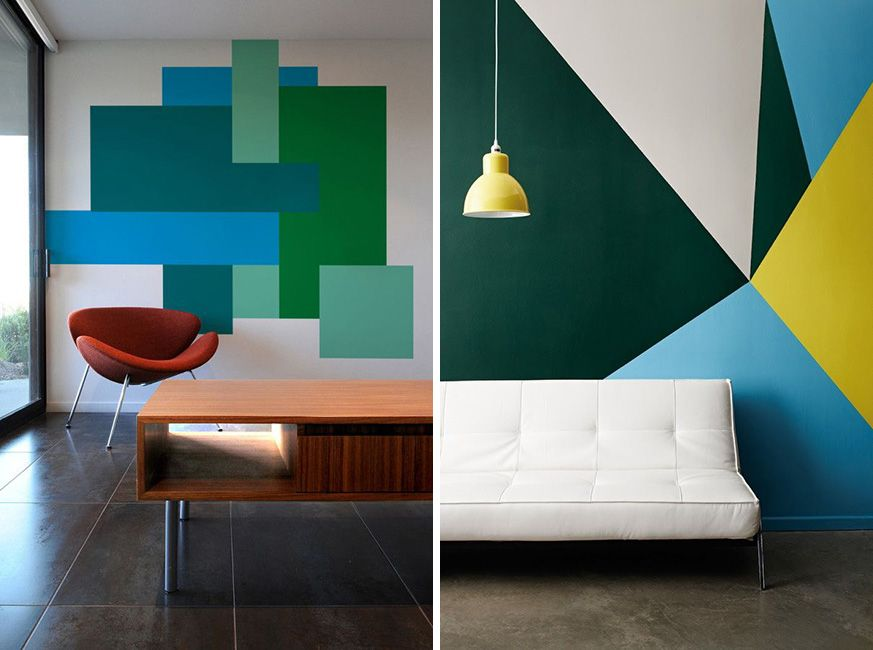 Resultado de imagen para figuras geometricas para dibujar for Formas de pintar paredes interiores