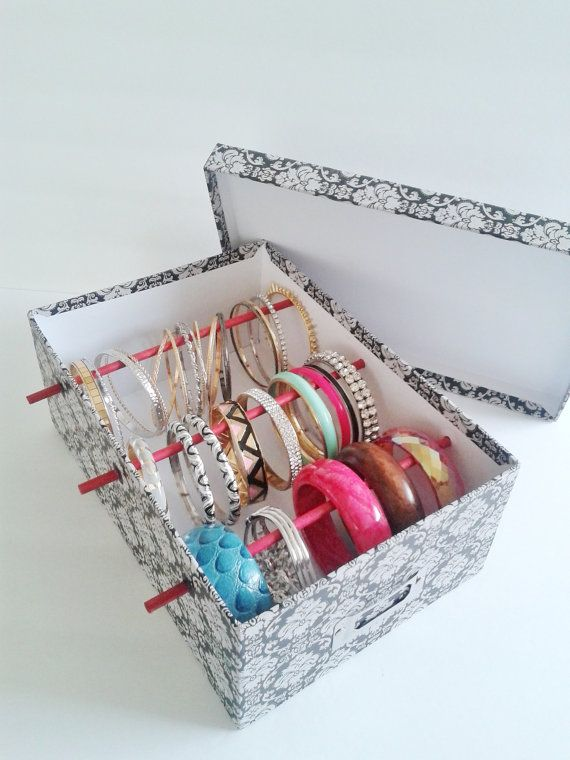 How To Make Bangle Stand With Shoe Box