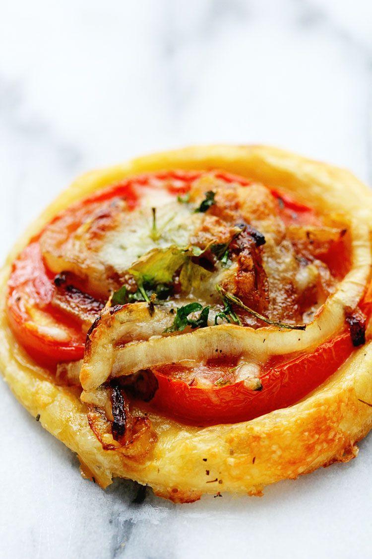 Oscar Tomato Tarts | Grandbaby Cakes - puff pastry with caramalized onion and tomato!!