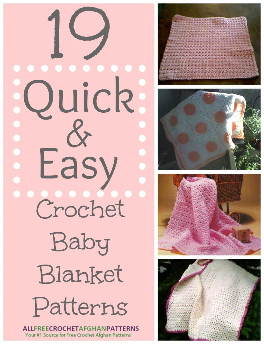 19 Quick and Easy Crochet Baby Blanket Patterns ...