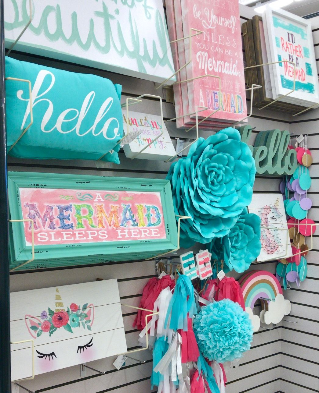 New Home Decor at Hobby Lobby (With images) Flower wall