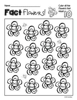 Print and Go! Spring Garden Math and Literacy (NO PREP