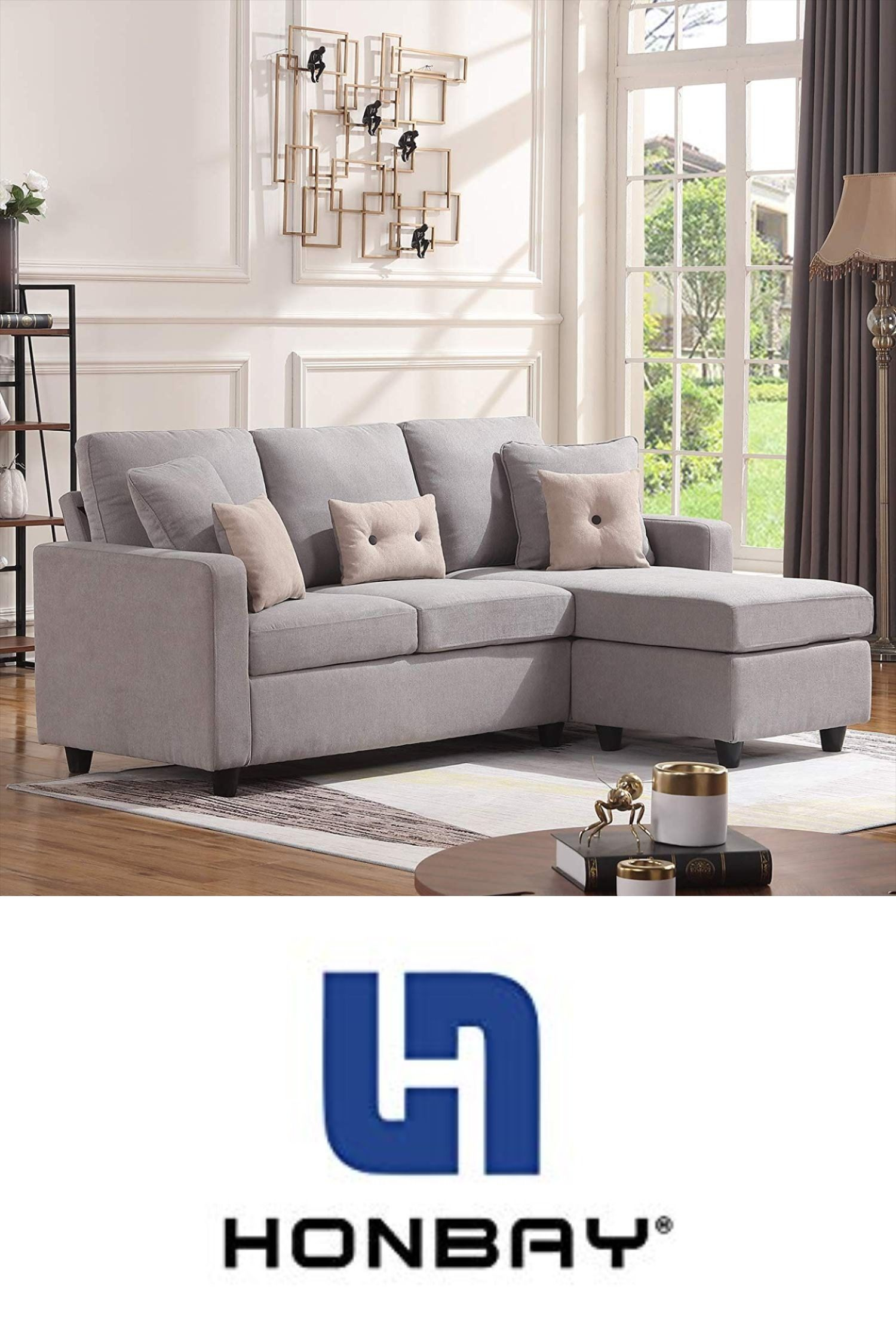 Honbay Convertible Sectional Sofa Couch In 2020 Sectional Sofa Couch Sectional Sofa L Shaped Couch