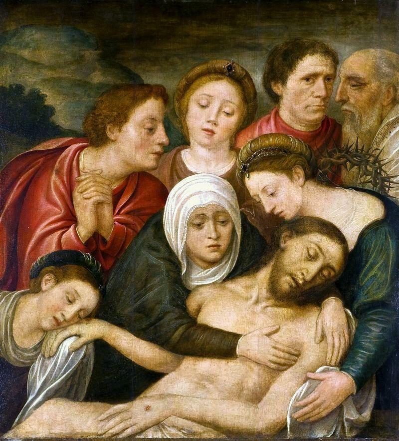 "beautiful-belgium: ""Lamentation of Christ - Workshop of Bernard van Orley (first half of 16th century) Source """