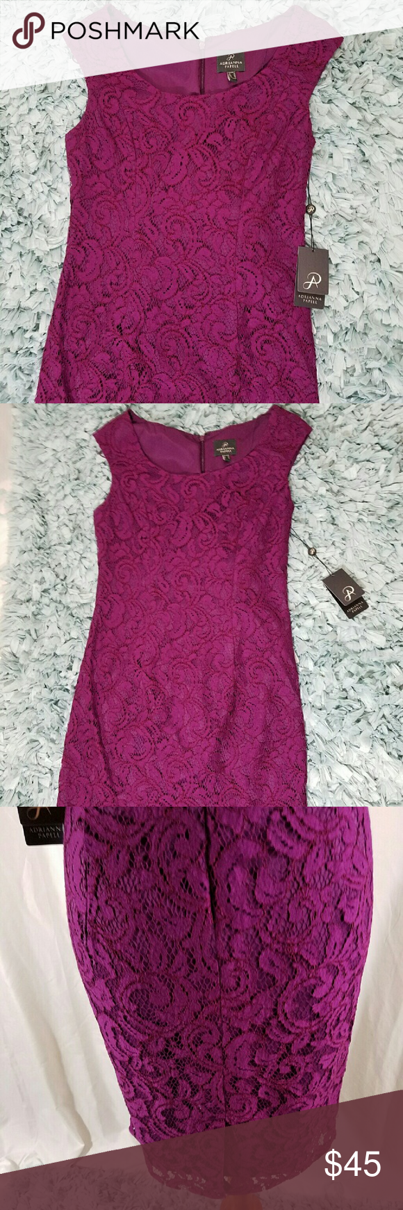 NWT Adrianna papell size 6 purple dress NWT