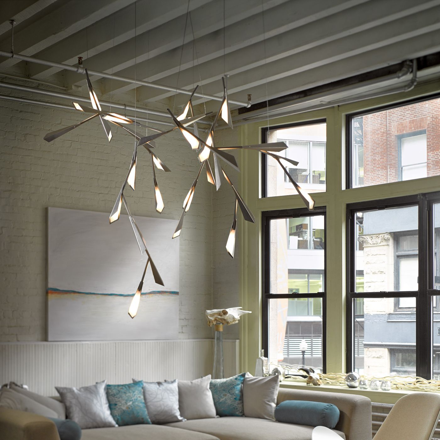 Hubbardton Forge Modern: Hubbardton Forge NO Quill Large Pendant