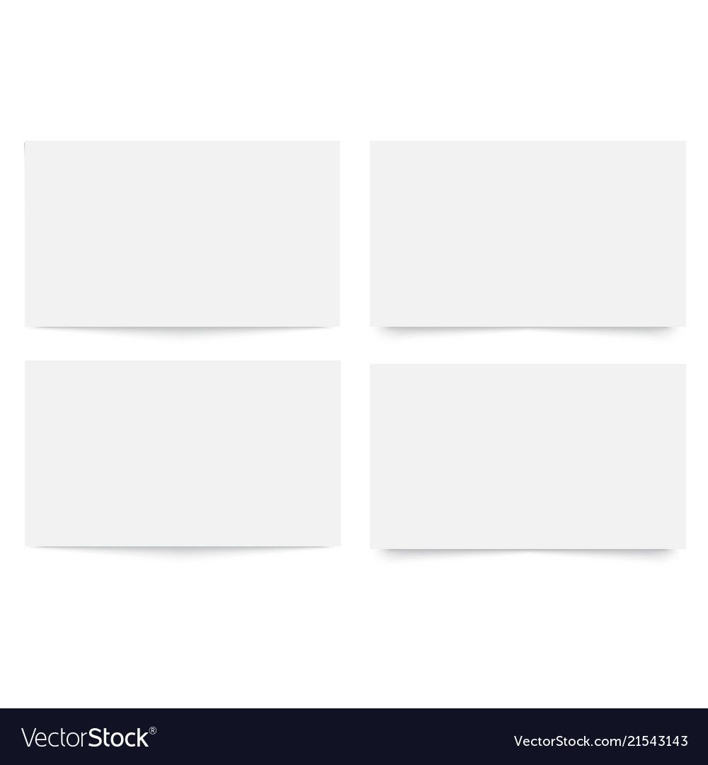 Blank Empty Business Card Template With Plain Business Card Template Word Best Profes Business Card Template Word Blank Business Cards Business Card Template