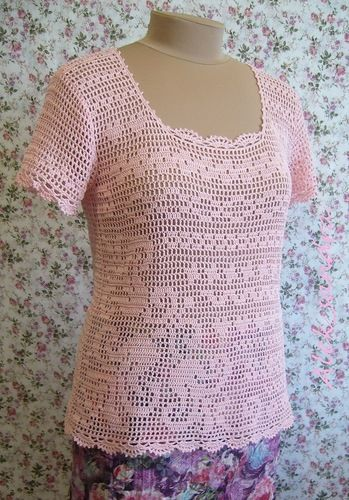 Filet Crochet Blouses Filet Crochet Blouse Pattern Crochet