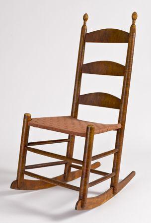 Stupendous Shaker Birds Eye Maple Armless Rocker New Lebanon New York Spiritservingveterans Wood Chair Design Ideas Spiritservingveteransorg