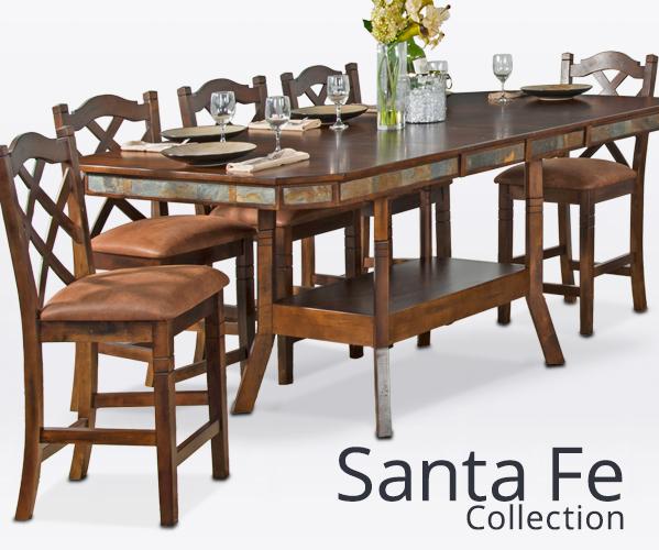 Santa Fe Style Rustic Furniture, Santa Fe Rustic Furniture Collection