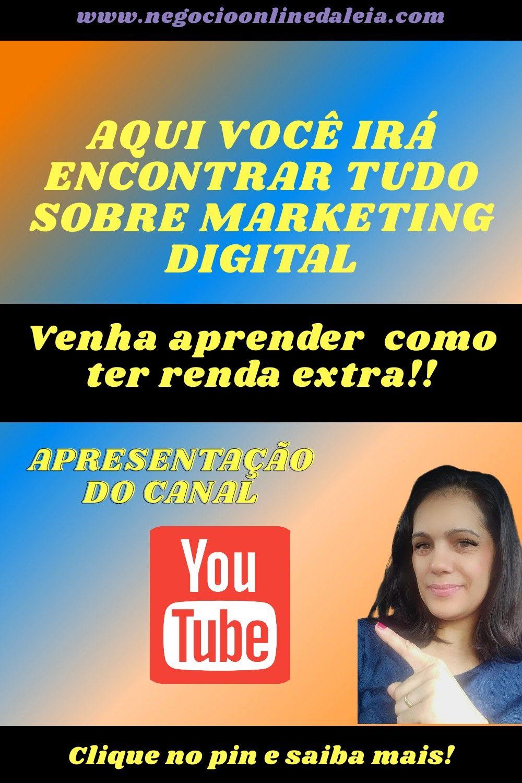 Venha aprender comigo tudo sobre marketing digital!