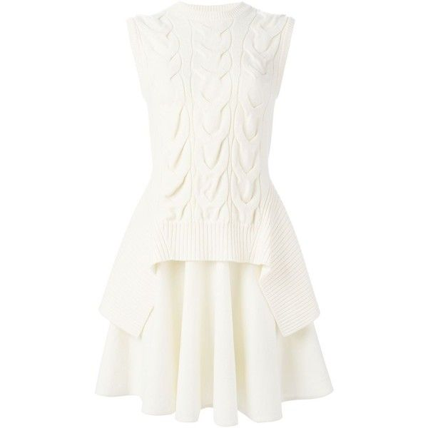 Alexander McQueen layered cable knit dress (€2.090) ❤ liked on Polyvore