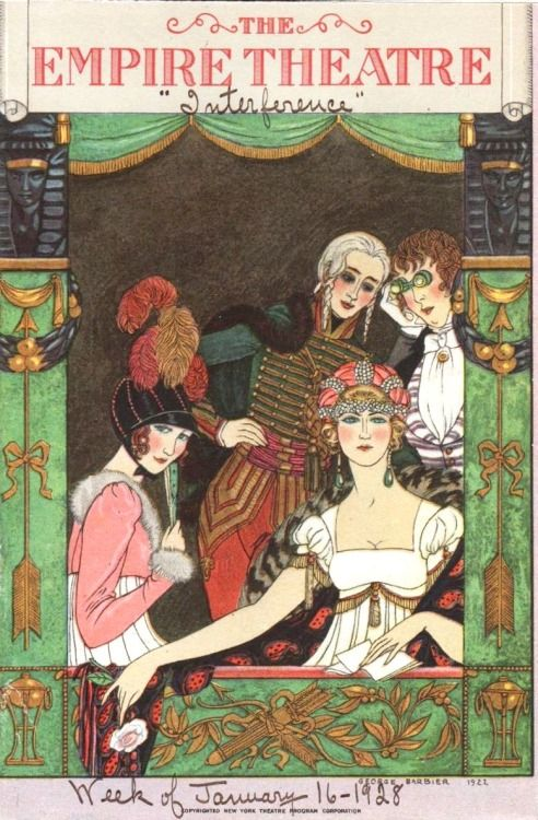 George Barbier design (1922) used on cover of Empire Theatre program 1928