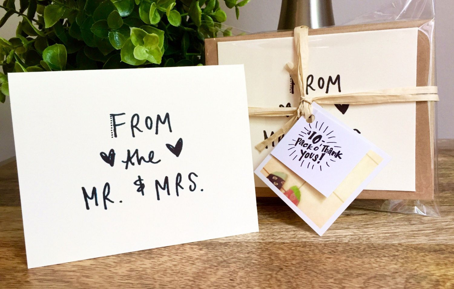 Wedding Greeting Card Bulk Mr And Mrs Thank You Cards 10 Rustic