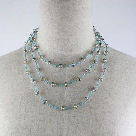 Vintage Multiayer Crystal Necklace DC7N501 $1.75