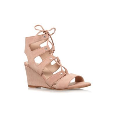 6ab3f24223eb Carvela Nude  Khristie  mid wedge heel strappy shoe boot- at ...