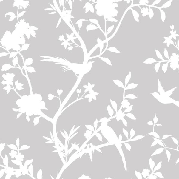 Tempaper Garden Affair Classic Grey SelfAdhesive