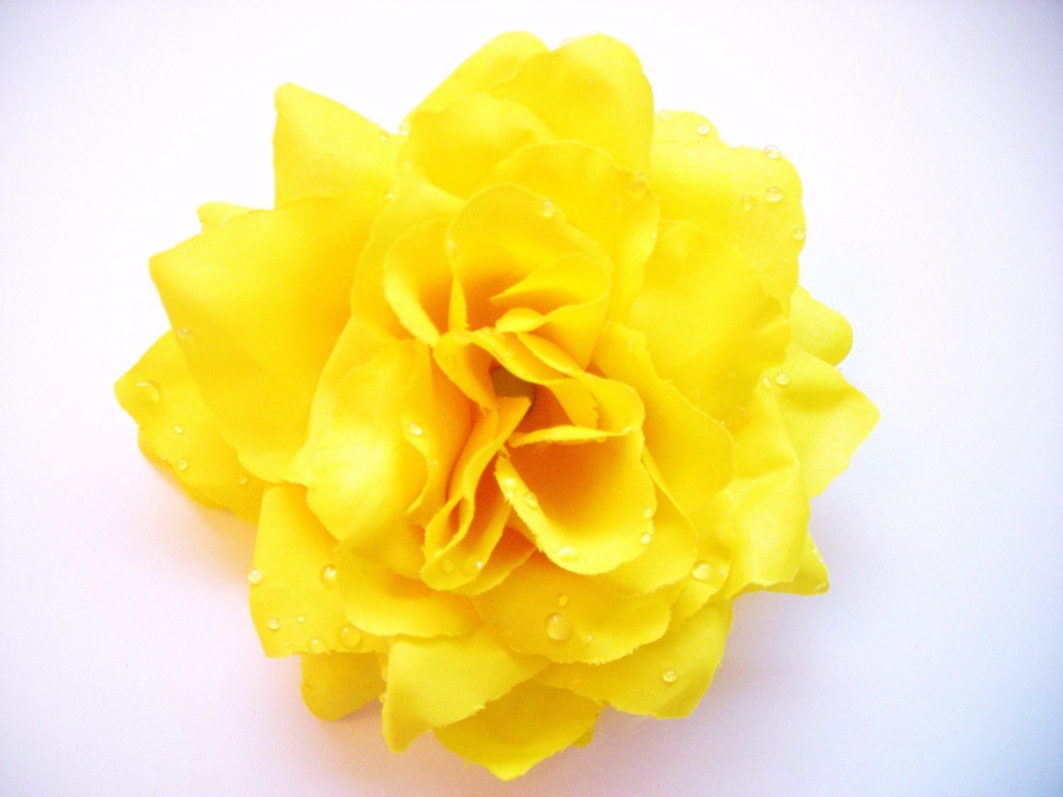 Canary Yellow Rose Hair Clip Pinup Hair Flower Rockabilly Hair