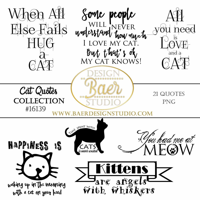 Cat Quotes Word Art Clipart Cat Word Art Cat Planner