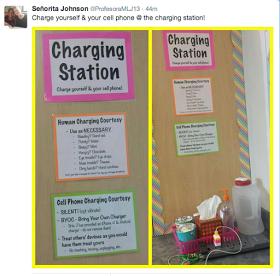 Mis Clases Locas: Quick Tip: Charging Station