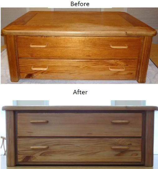 Before and after photo of a pine coffee  cocktail table with drawers   Refinished    Coffee CocktailsRefinished FurnitureFurniture RefinishingWood. Before and after photo of a pine coffee  cocktail table with