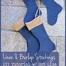 Linen & Burlap Stockings {DIY Tutorial}