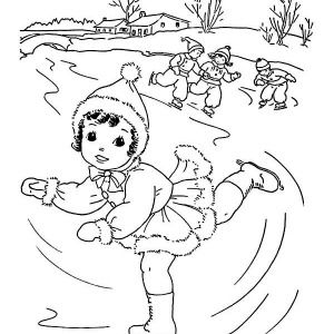 Icolor Ice Skating Coloring Pages