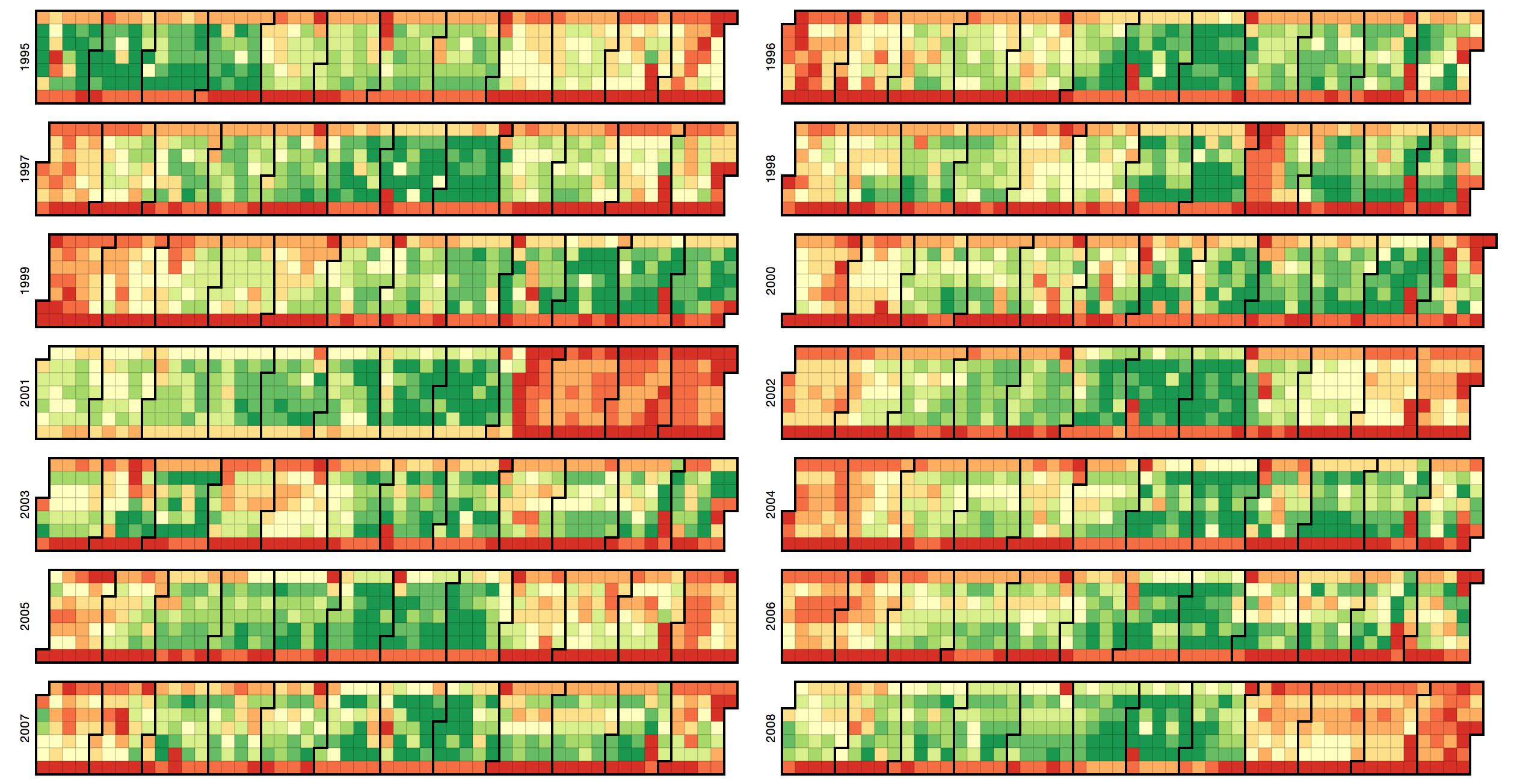 Calendar Heatmap Using D3js Data Visualization Pinterest - Heat Map D3 Us