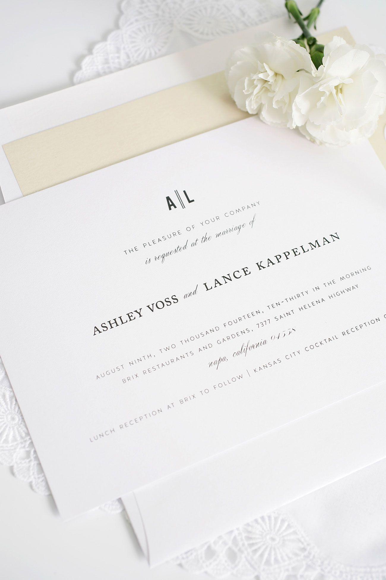 Vintage neutral wedding invitations   http://www ...