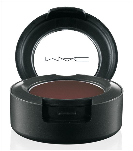 MAC Eye Shadow in Embark is my favorite dark shadow for a more mellow, matte smokey eye when black is too much. Great in the crease and outer corner.