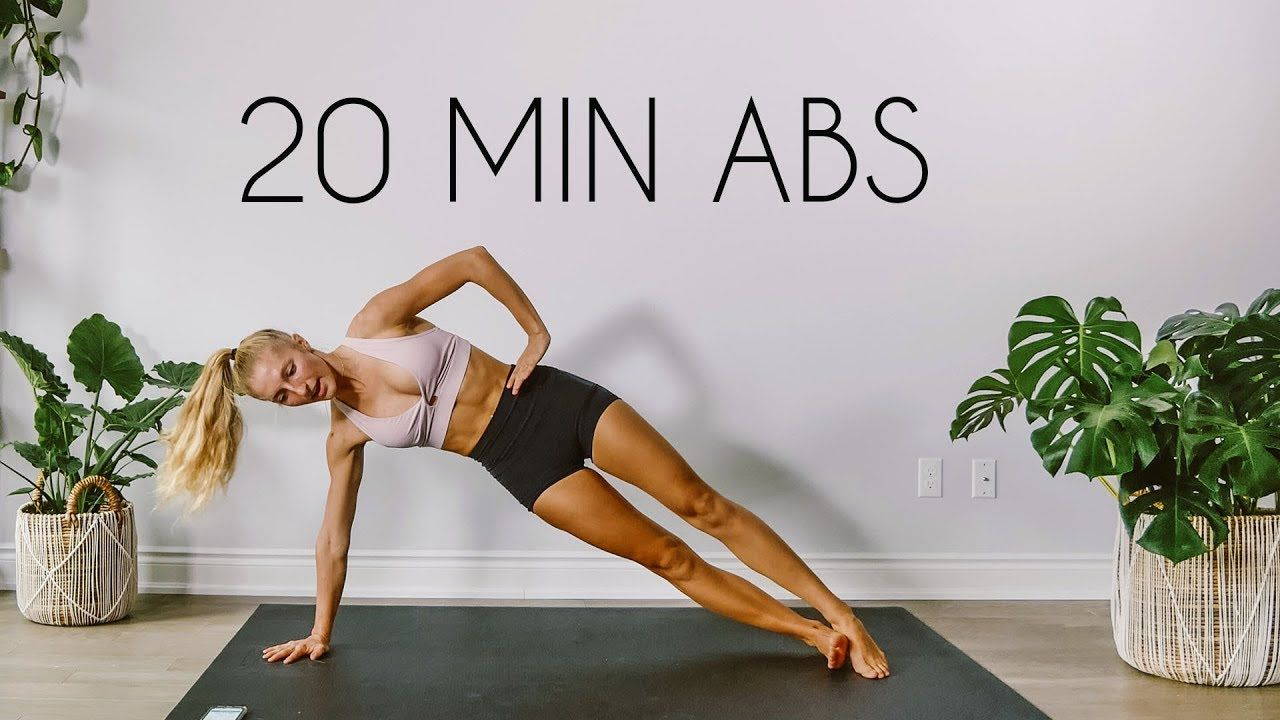20 min total core ab workout at home no equipment