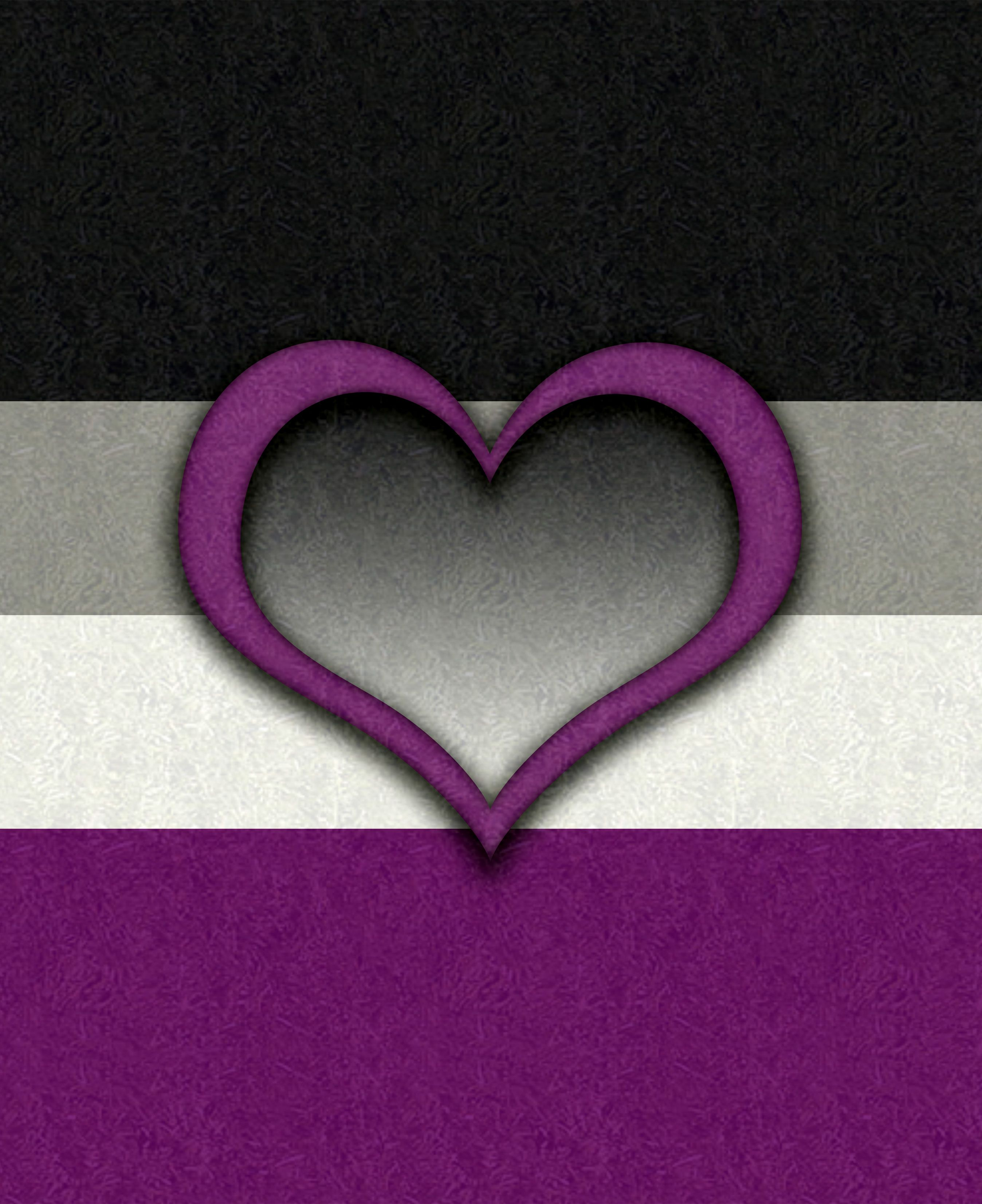 Customizable demiromantic pride flag black gray white and black gray white and purple flag with heart symbol demiromantic a person who only feels romantic attraction after a strong emotional bond has been buycottarizona