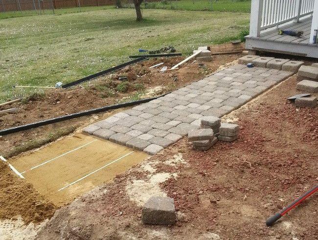 Brick paver sidewalk ideas for home.