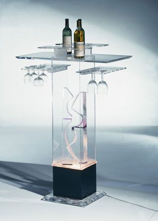 BOXED BAR STAND  by Shahrooz shahrooz-art.com - #AcrylicFurniture, #LuciteFurniture ACRYLICORE by Shahrooz is one of the top-leading designers and manufacturers in Fine Clear Acrylic Furniture and #Sculptures in the country. www.shahrooz-art.com  888-406-4846