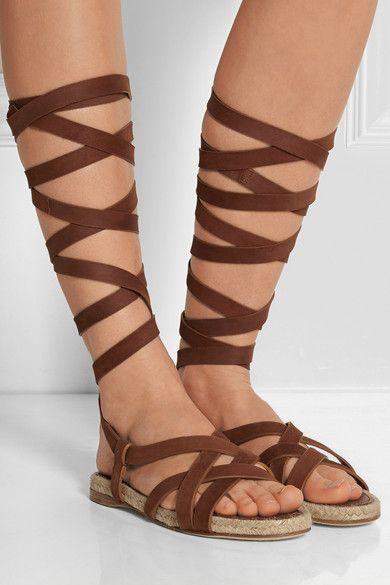 Miu Miu Suede Lace-Up Sandals sale 2014 professional cheap online store outlet best sale 7RdefO