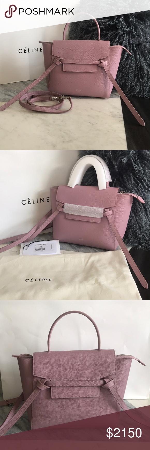 Authentic Celine Nano Belt Bag 2018 New love🤩 Antique Rose